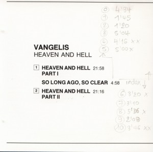 1975 HEAVEN AND HELL Titles & Indexes